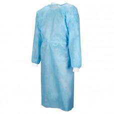 Халат хирургический рукав-манжета 140 см плотность 25 стерильный с завязками размер 60-62