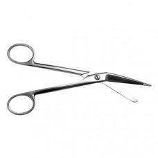 Ножницы для разрезания повязок с пуговкой ТБ-Н-14 горизонтально изогнутые 185 мм