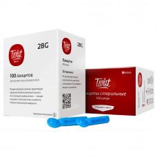 Ланцет для прокалывателя универсальный TWIST 28G 100 шт