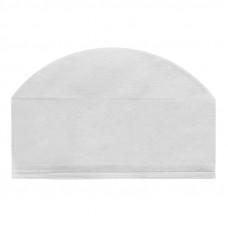 Шапочка-колпак 18 см плотность 25 нестерильная с подворотом белый