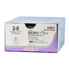 Викрил Плюс фиолетовый М1.5 (4/0) колющая игла 45 см BB PLUS 36 шт VCP9074H