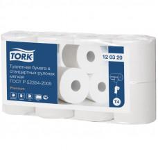 Туалетная бумага Tork мягкая 120320 2 слоя 9,4 см 23 м 184 листов 96 шт