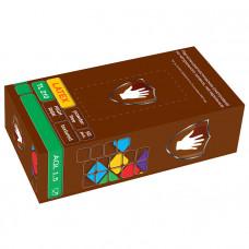 Перчатки латексные смотровые нестерильные неопудренные Safe&Care-HIGH RISK TL 210 повышенной прочности размер S 25 пар