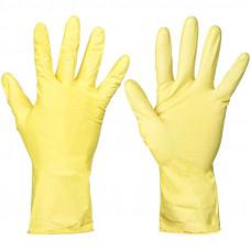 Перчатки резиновые с хлопчатобумажным напылением размер L