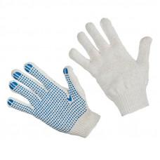 Перчатки хлопчатобумажные с точечным ПВХ 4 нити 10 класс 10 пар