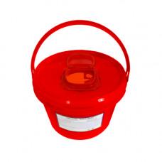 Контейнер для утилизации игл Респект класс В 6 л красный