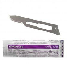 Лезвие для скальпеля одноразовое Beroblade размер 15 углеродистая сталь (100шт/уп)