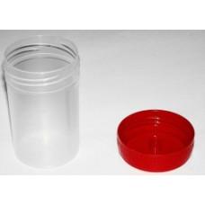 Контейнер для сбора биоматериалов стерильный с крышкой 60 мл