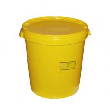Бак для медицинских отходов Респект класс Б 35 л желтый