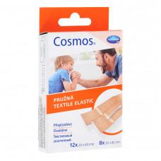Пластырь Cosmos textil elastic эластичный два размера 5 шт телесный