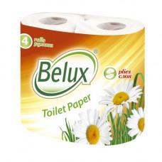 Туалетная бумага Belux 2 слоя белая 4 шт