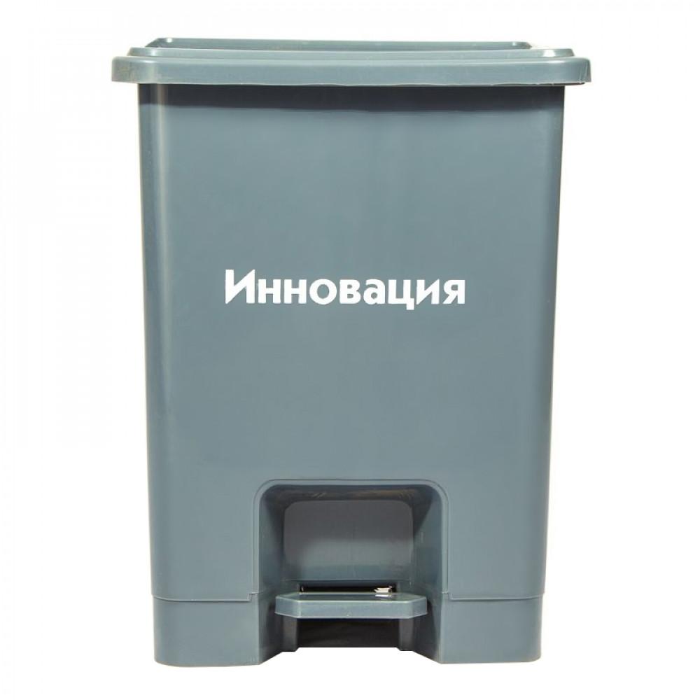 Бак для медицинских отходов Инновация класс А 15 л серый