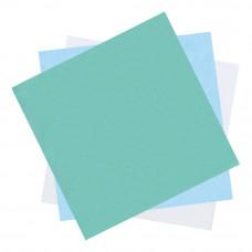 Бумага крепированная мягкая для паровой и газовой стерилизации DGM 1000х1000 мм зеленая-белая 250 шт