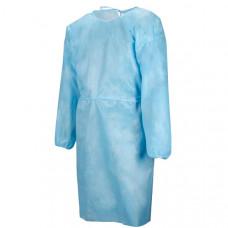 Халат хирургический рукав-резинка 110 см плотность 25 стерильный размер 48-50