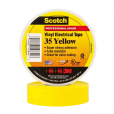 Изоляционная лента 3М scotch высший сорт 19 мм 20 м желтая