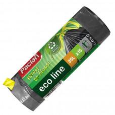 Мешки для мусора Paclan Eco line 35 л с завязками 15 шт