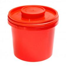 Контейнер для утилизации игл Инновация класс В 1 л красный круглый