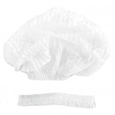 Шапочка хирургическая Берет-Шарлотта плотность 17 нестерильная гофрированная 2-х рядная резинка белый 50 шт