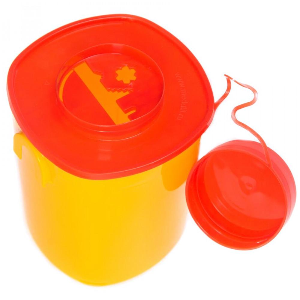 Контейнер для утилизации игл Инновация класс Б 1,5 л желтый