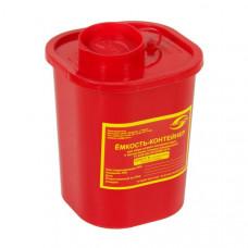 Контейнер для утилизации острого инструмента МедКом класс В 1,5 л красный