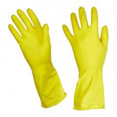Перчатки резиновые латекс с хлопковым напылением Paclan Practi L