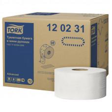 Туалетная бумага Tork Advanced 120231 2 слоя 10 см 170 м 1214 листов 12 шт
