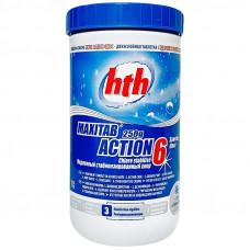 Двухслойная таблетка 6 в 1 HTH Maxitab Action 6, таблетка 250г, 1кг