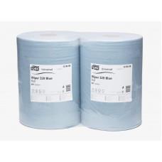 Бумага протирочная Tork Universal 128408 2 слоя 36,9 см 340 м 1000 листов голубая 2 шт