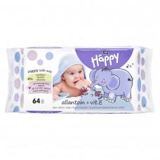 Салфетки влажные детские bella baby Happy с витамином Е и аллантоином 64 шт