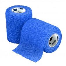 Бинт фиксирующий Coban 3M самоскрепляющийся эластичный 10 см 4,5 м синий 18 шт