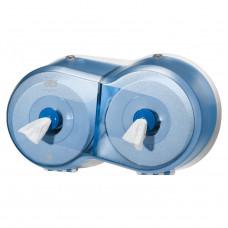Диспенсер для туалетной бумаги в мини рулонах Tork SmartOne 472027 двойной синий