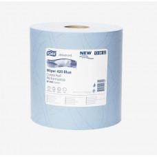 Материал протирочный Tork Advanced Wiper 420 Blue W1 Performance 130052 2 слоя 24 см 255 м 750 листов 2 шт