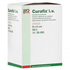 Пластырь Curafix IV с подушечкой стерильный 9х6 см 50 шт