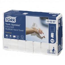 Полотенца Tork Xpress 100297 Multifold сложение ультрамягкие 2 слоя 21х34 см 100 листов 21 шт
