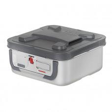 Контейнер для стерилизации MicroStop 60х30х16 см серые ручки