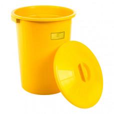 Бак для медицинских отходов Респект класс Б 80 л желтый
