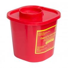 Контейнер для утилизации острого инструмента МедКом класс В 1 л красный