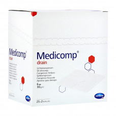 Салфетки Medicomp drain steril стерильные 6 слоев 10х10 см 25х2 шт