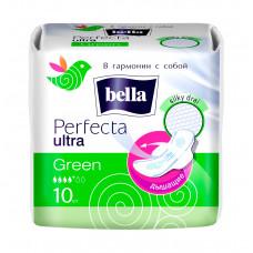 Прокладки гигиенические ультратонкие bella Perfecta ultra Green 10 шт