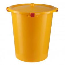 Бак для медицинских отходов КМ-проект класс Б 35 л желтый с крышкой
