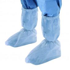 Бахилы Хирургические нестерильные одинарная подошва плотность 42 45 см высокие на резинке
