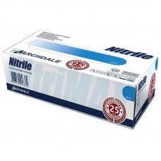 Перчатки смотровые нитриловые нестерильные неопудренные текстурированные Nitrile голубые эластичные размер XL 50 пар