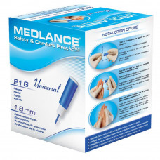 Ланцет Медланс плюс лезвие 1,8 мм для забора крови 200 шт