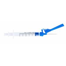 Набор для взятия образцов крови, с безопасной иглой (шприц 3 мл, игла 26G 15 мм, гепарин)