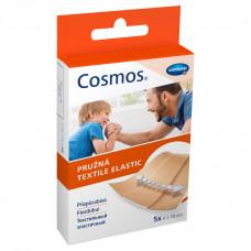 Пластырь Cosmos textil elastic эластичный 6х10 см телесный 5 шт
