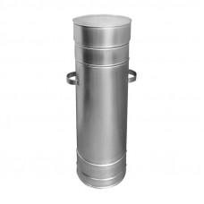 Бак для сбора и хранения люминесцентных ламп ф450 150 см с крышкой