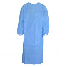 Халат хирург. 140см пл.40 Нестерильный с ламинированной передней поверхностью и рукавами, рукав вязанный манжет (трикотаж)