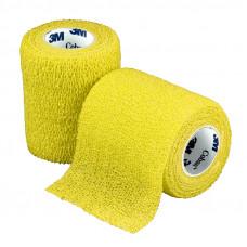 Бинт фиксирующий Coban 3M самоскрепляющийся эластичный 7,5 см 4,6 м желтый 24 шт