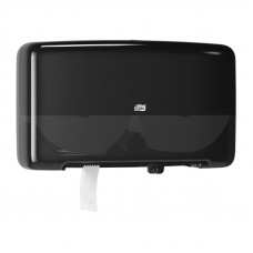 Диспенсер для туалетной бумаги в мини-рулонах Tork Elevation 555508 двойной черный