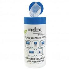 INDEX салфетки чистящие для мониторов ICCW02100G/R 100 шт